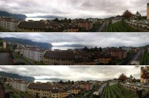 Les panoramas des Xperia T (haut), Galaxy SIII (centre) et iPhone 5 (bas).