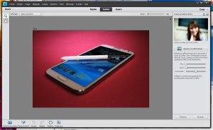 """L'interface """"guidée"""" de Photoshop Elements11."""