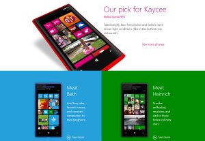 Windows Phone 8 et son interface dynamique.