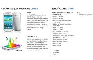Le Samsung Galaxy S3 Mini.