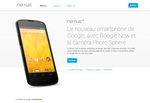 LG Google Nexus 4: écran HD, quad-core, 2Go, Android 4.2.