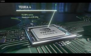 Le Tegra 4 de Nvidia: 4 puces ARM et 72 coeurs graphiques.