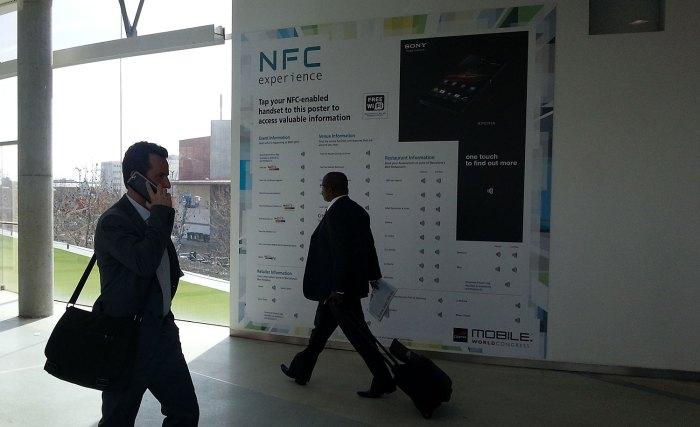 Pratique: le MWC met en avant le NFC à Barcelone.