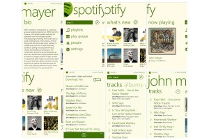 Spotify pour Windows Phone 8.