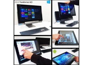 L'Asus Transformer Aio combinant Windows 8 et Android.