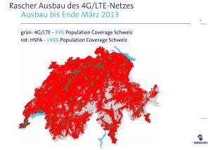 4G / LTE: 170 localités couvertes en Suisse par Swisscom.