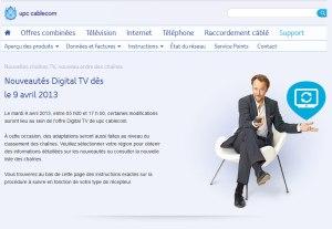 UPC Cablecom étend son offre TV et radio.