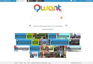 Qwant: le nouveau moteur de recherche français.