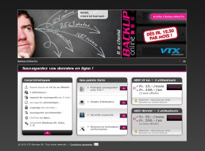 VTX propose une offre intéressante pour de gros volumes de backup.