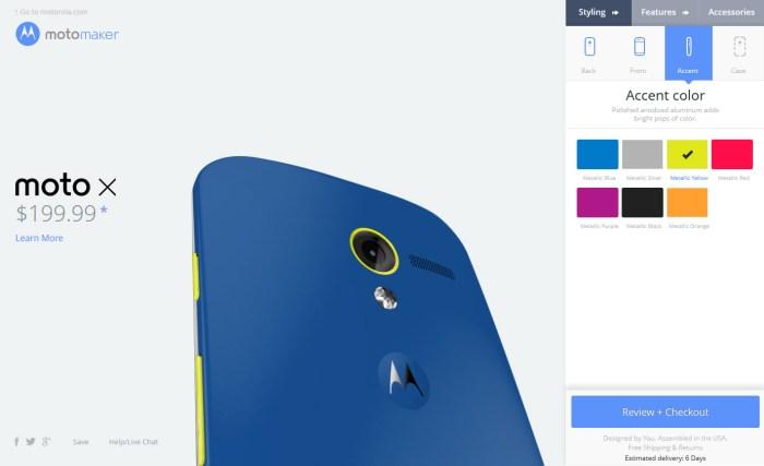 Moto X: le nouveau fleuron de Google peut être personnalisé sur la toile!