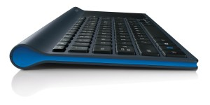 Le clavier Logitech TK820 est équipé de touches légèrement concaves.