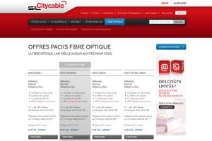 L'offre fibre optique de Citycable.