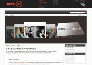 Le HbbTV est proposé sur Arte HD en Suisse.