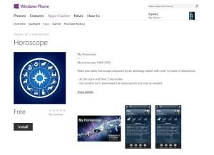 Mon Horoscope d'ID Mobile débarque sur Windows Phone 8.