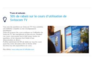 Swisscom donne aussi des cours sur ses propres produits.