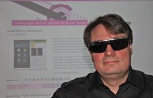 Les Google Glass avec ses verres optionnels pour le soleil.