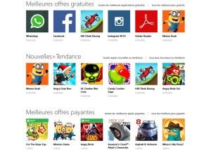 Tous plus d'apps sur Windows Phone.