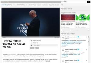 Le WEF 2014 de Davos 2014 soigne son image
