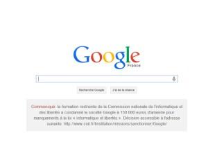 Google France a publié samedi et dimanche la décision de la Cnil.