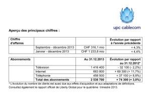 La lecture des notes de bas de page est essentielle dans le cas d'UPC Cablecom.