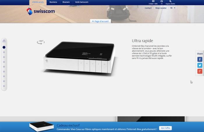 L'Internet Box de Swisscom.