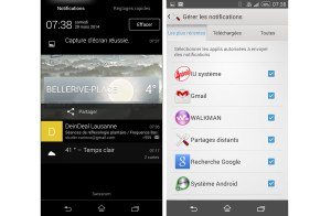 Android 4.4.2 KitKat sur l'Xperia Z1 Compact.