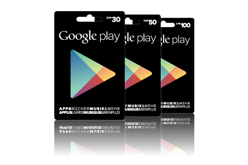 Des bons pour le Google Play Store.