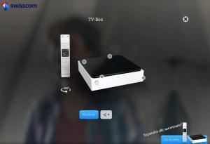 Swisscom TV 2.0 et sa télécommande.