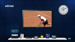 L'interface de la Wilmaa TV Box.