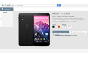 Le Nexus 5 sur le Google Play est vendu 429 francs en Suisse.