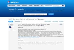 Swisscom TV 2.0: des problèmes de télécommandes garantis jusqu'à fin juin!