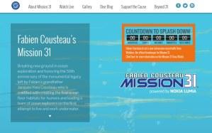 La Mission 31 de fabien Cousteau avec Nokia Lumia.
