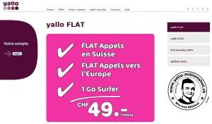 Yallo Flat pour ceux qui téléphonent beaucoup en Europe.