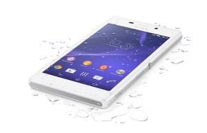 Le Sony Xperia M2 Aqua.