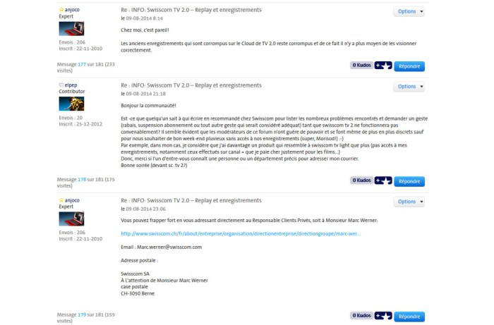 Swisscom TV 2.0: il reste des bugs et des problèmes.
