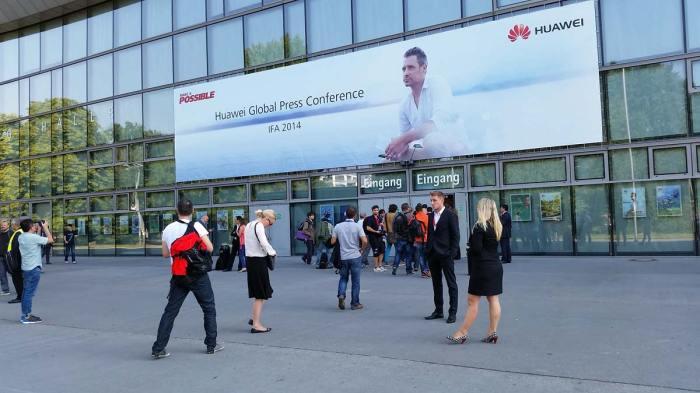 La conférence de presse de Huawei organisée en marge de l'IFA 2014.