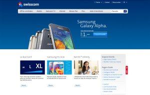 Les précommandes pour le Samsung Galaxy Alpha sur le site de Swisscom.