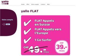 Yallo Flat: baisse de prix bienvenue.