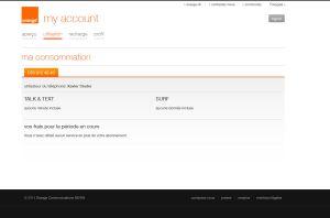 MyAccount d'Orange: le grand vide!