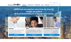 La plateforme sécurisée Samsung Knox permet au Coréen de se positionner sur le créneau de la sécurité.