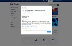 Phising: Swisscom met en garde!