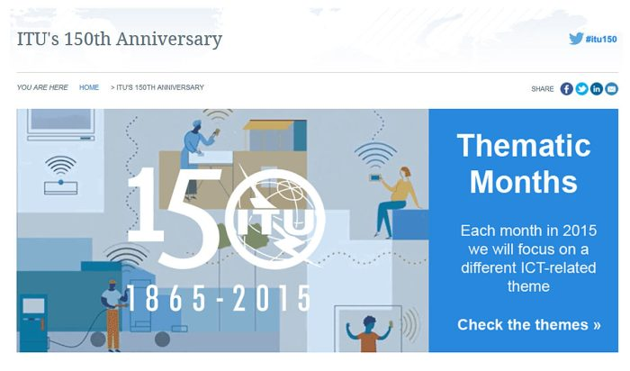 L'UIT fête ses 150 ans.