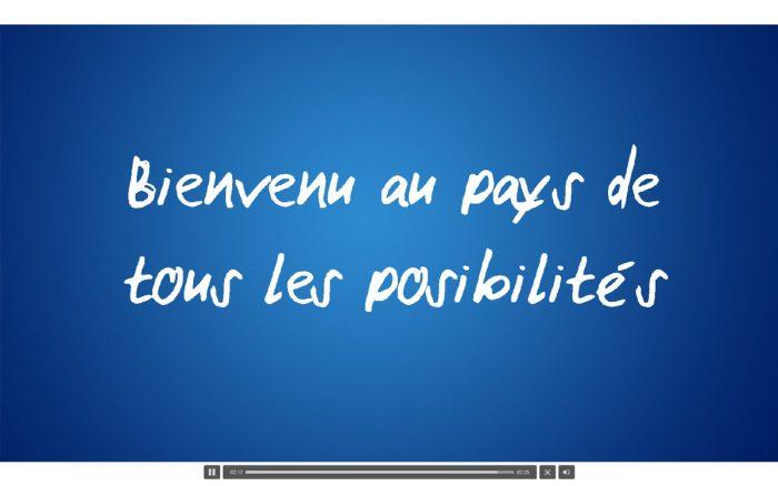 """Swisscom: """"Bienvenu au pays de tous les posibilités"""""""