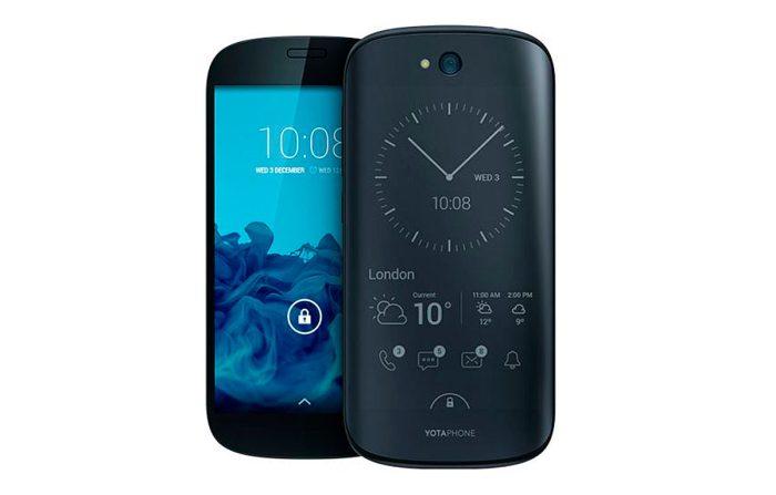 Le YotaPhone 2 et ses deux écrans.