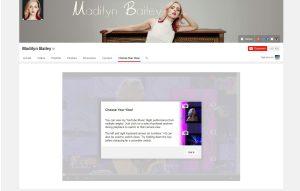 """YouTube propose une fonctionnalité """"multi-view"""" sur la page de Madilyn Bailey."""