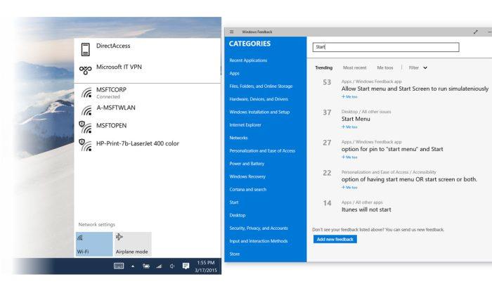 Windows 10, Version 10041. Captures officielles.