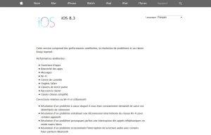 Apple iOS: une politique de mise à jour souvent à suivre.