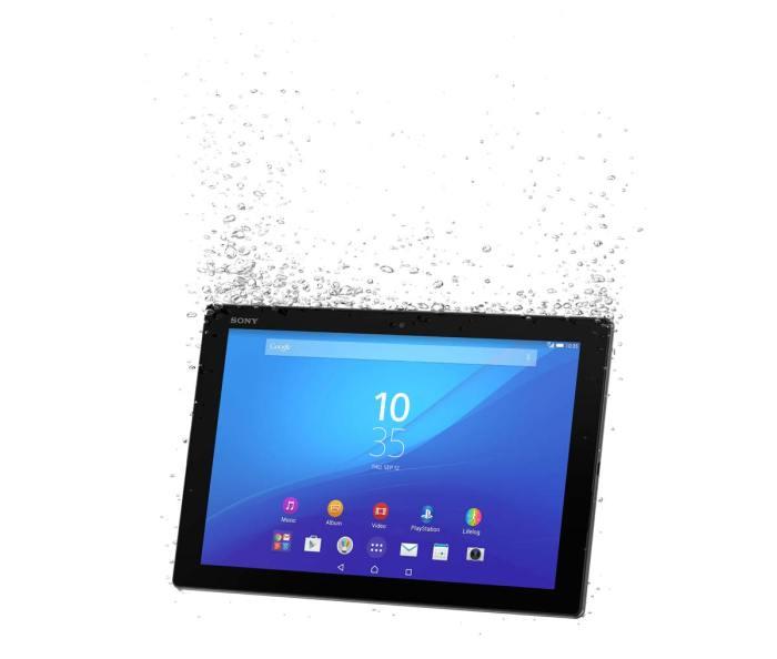 La Sony Xperia Z4 Tablet est étanche.