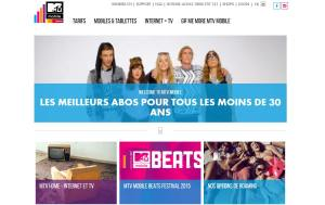 MTV Mobile et MTV Home de Sunrise.