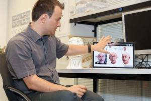 Alexandru Ichim, concepteur de l'avatar 3D de l'EPFL.